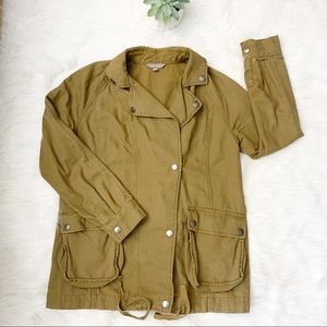 Rubbish Military Utility Jacket Olive Green Small
